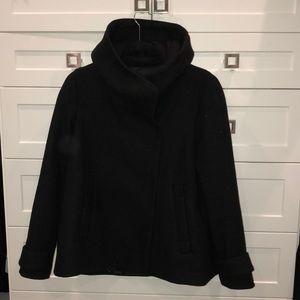 Zara Black Hooded jacket